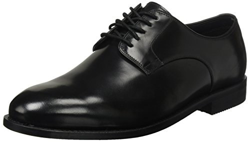 Clarks Ellis Uomo Ellis Nero Leon Leather Black Clarks Derby gddqU