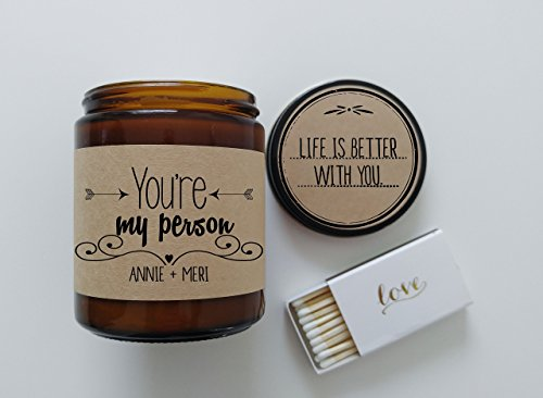 You're My Person Personalized Scented Candle Greys Anatomy Jar Candle Candle Gift Romnatic Gift Soy Candle Gift Friend Gift