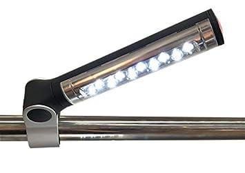 Santos - Lámpara LED para barbacoa, giratoria 360°, con luz clara ...