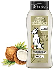 Wahl Canada Dog Oatmeal Shampoo, Plant Derived Shampoo in Coconut, Lime, Verbena to Help Sooth Dry Itchy Skin, Paraben-Free, 700ml, Model 58322