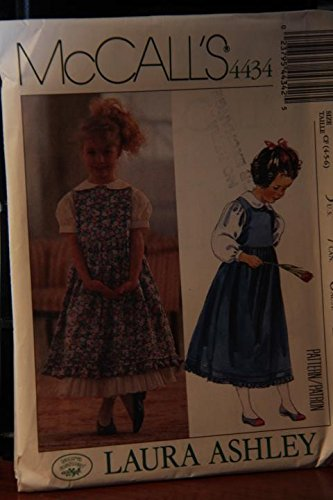 Jumper Laura Ashley - McCall's Pattern 4434 Size CF (4-5-6) / Laura Ashley / Children's And Girls' Jumper, Blouse And Petticoat