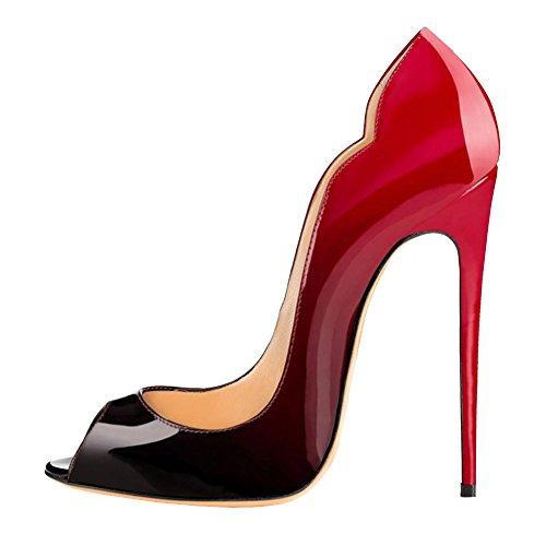 Eks noir Rouge Salle Danse De Femme frx1afvnqw