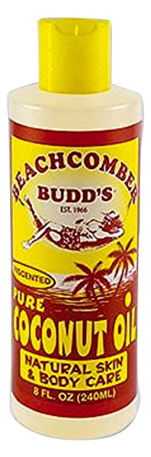 (Hawaiian Beachcomber Budd Pure Unscented Coconut Oil 8 oz.)