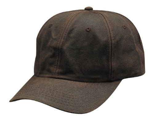 Baseball Cap Oilcloth (Polo Style Low-profile Baseball Cap/Hat, Oil Cloth Water Repellent - One Size - Brown)