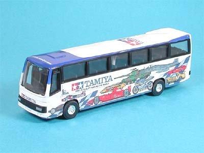 タミヤ ラッピングバス(ホワイト×ブルー) ダイキャストアクションカー 89582