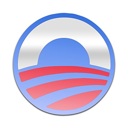 Bargain Max Decals Barack Obama President Symbol Window Laptop Car Sticker 5.5