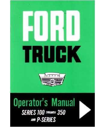 1964 FORD F-100 to F-350 P Series TRUCK Owners Manual (1964 Ford Pickup)