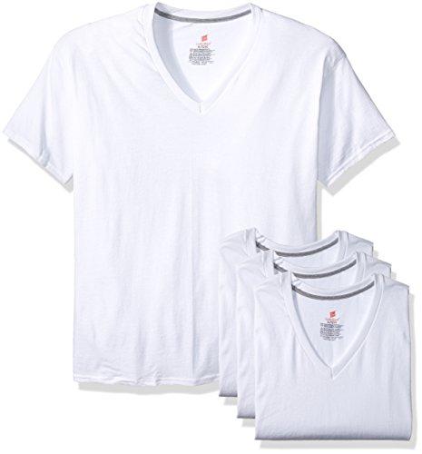 Hanes Men's 3-Pack Comfortblend V-Neck, White, Small