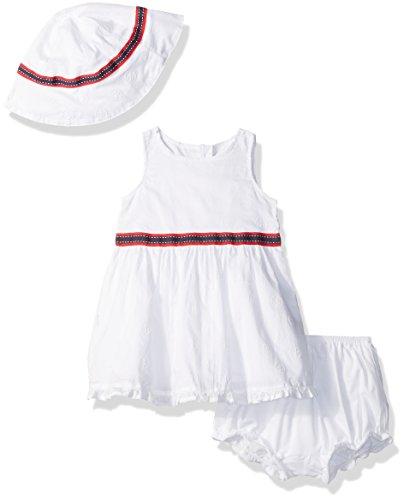Nautica - Vestido Estampado con Ancla para niña, Blanco (Sail White), 6-9 Meses