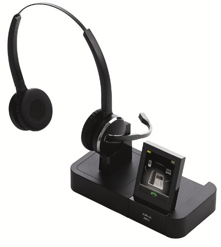 Jabra PRO 9460 Duo Wireless Headset with Touchscreen for Deskphone and Softphone, Office Central