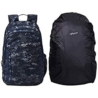 F Gear Raider Marpat Navy Digital Camo 30 Liter Backpack with Rain Cover (2810) & F Gear Repel Rain & Dust Cover for…