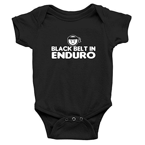 Teeburon Black Belt In Enduro Baby Bodysuit ()