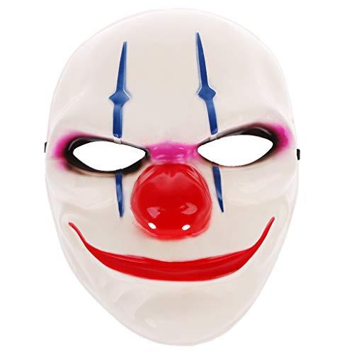 GMSP Halloween Clown Killer Masks Horror Funny Devil Full Face Mask for Masquerade. (B)]()