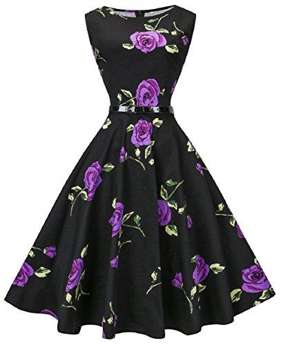 50s purple dress - 7