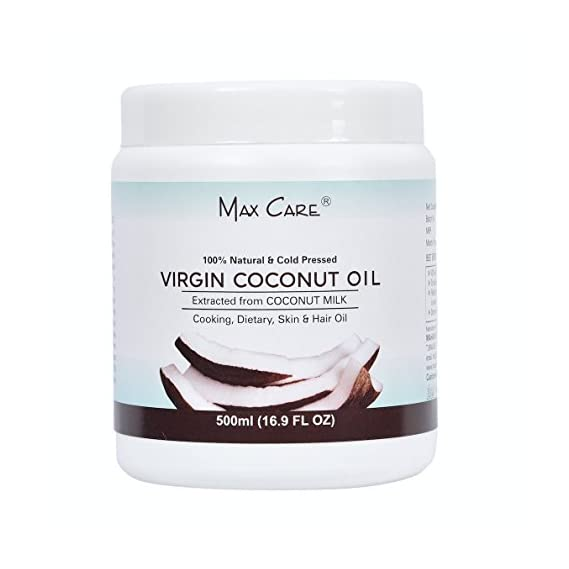 Maxcare Virgin Coconut Oil (Cold Pressed) 500ML Wide Mouth