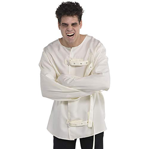 AMSCAN Asylum Straight Jacket Halloween Costume for Men, One Size -