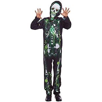 Disfraz Esqueleto Radiactivo Niño (5-6 años) Halloween (+ Tallas ...