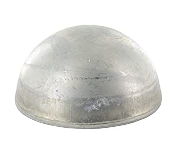 Wandst/ärke 2,0mm ungeschliffen Halbhohlkugel /ø 42,4mm