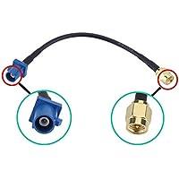 Dasaita Antena GPS Coches Fakra C a Conector SMA Piggear Cable RG174 pere Qashqai Automóvil Módulo GPS Antena de rastreo…