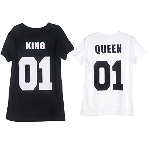 1113c9d46f KOINECO King Queen Couples Matching T Shirts - Buy Online in UAE. | Apparel  Products in the UAE - See Prices, Reviews and Free Delivery in Dubai, Abu  Dhabi, ...