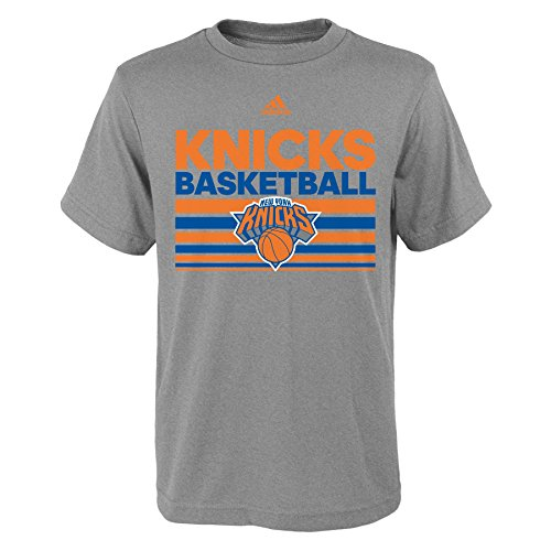 fan products of NBA New York Knicks Boys Youth Born One Short Sleeve Tee, Large (14-16), Heather Grey