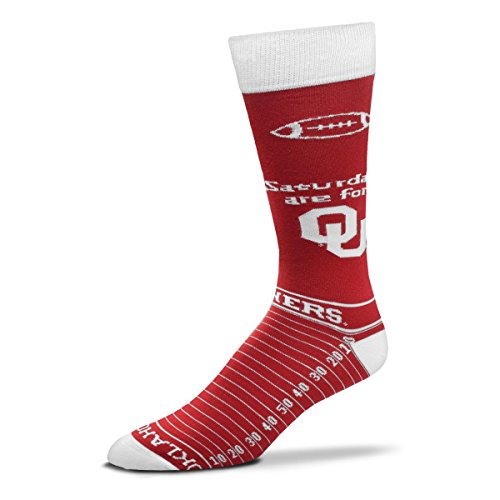 For Bare Feet NCAA Saturday Gameday Socks-Oklahoma Sooners-Large ()