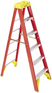 Werner 6206 stepladders, 6-Foot, Orange, 6 Ft