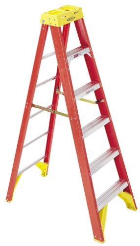 Werner 6206 300-Pound Duty Rating Type IA Fiberglass Stepladder, 6-Foot