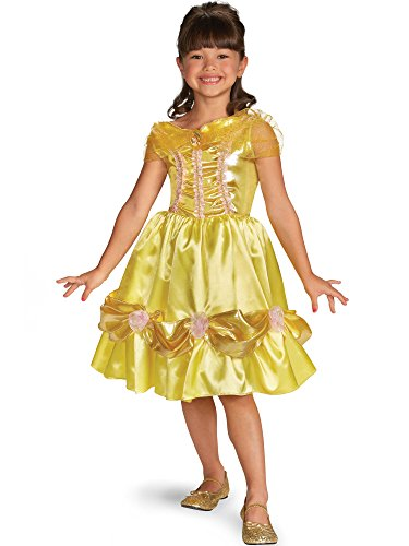 Disguise Disney Beauty and The Beast Belle Sparkle Classic Girls Costume, 4-6X (Belle Child Costume Classic)