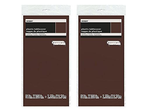 Plastic Brown Tablecloth 108