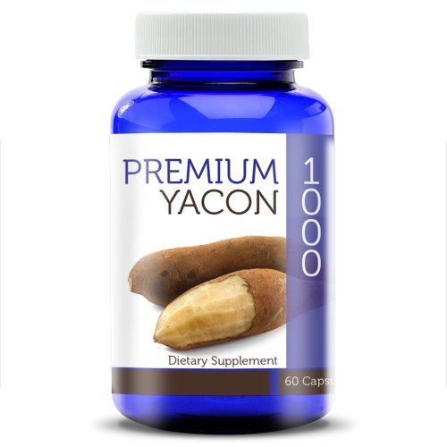 Premium Yacon 1000 – 100% Pure Yacon Capsules (1000 mg) For Weight Loss and Digestive Nutrition, Raw Root Powder Gel Caps – The Perfect Yacon Syrup Alternative! For Sale