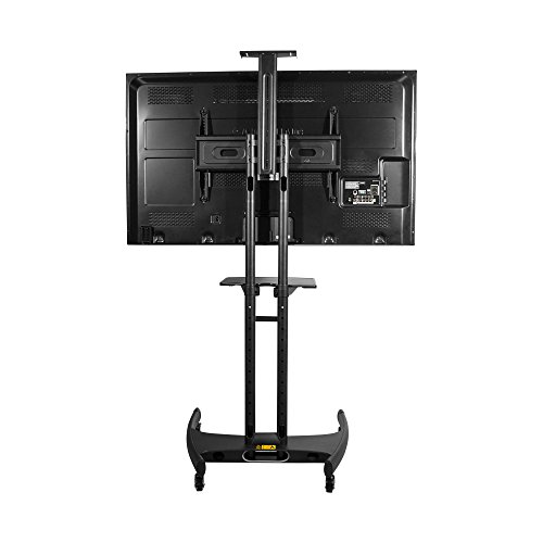 kanto mtm65pl mobile tv stand with mount for 37 to 65 inch flat panel screens black buy. Black Bedroom Furniture Sets. Home Design Ideas