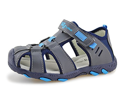 Jabasic Kids Closed-Toe Outdoor Strap Adventure Sporty Sandals
