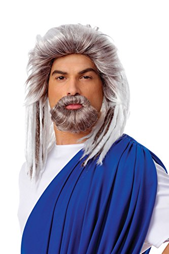 Costume Culture Men's King Of The Sea Wig and Beard Set Deluxe, Grey, One Size -