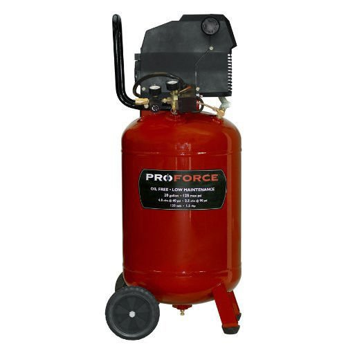 Pro-Force VLF1582019 20-Gallon Oil Free Vertical Air Comp...