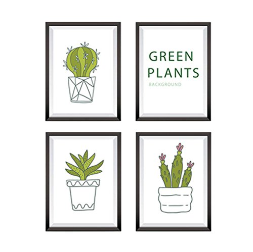Transer DIY Green Plant Removable Wall Art Painting Canvas Painting Wall Paintings Decorative Paintings For Living Room Bedroom (Green)