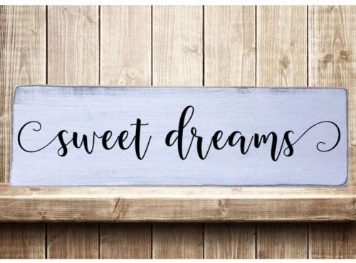 Cottage rustic style Sweet Dreams wood edged sign farmhouse decor
