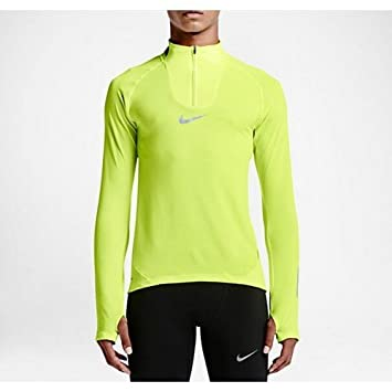 NIKE AEROREACT HALF-ZIP 683904-702 Volt Men's Large