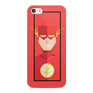 Loud Universe Flash Printed Durable Wrap Around iPhone SE Case - Red