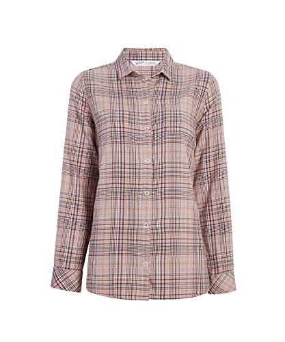 - Woolrich Women's Oak Park Eco Rich Twill Shirt, Violet Wind M