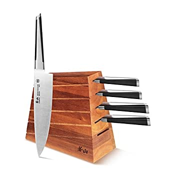 Image of Cangshan X Series 59915 6-Piece German Steel Forged Knife Block Set Home and Kitchen