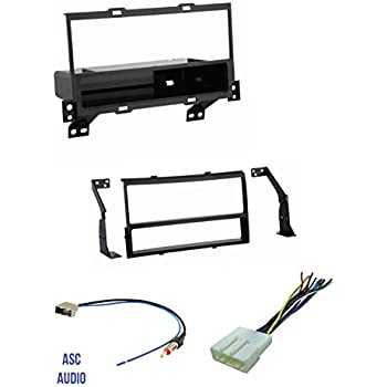 ASC Premium Car Stereo Charcoal Gray Install Dash Kit Wire Harness and Antenna Adapter for Installing an Aftermarket Radio for 2013 2014 2015 2016 Nissan Sentra