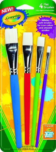 Crayola Big Paint Brushes (4 Count (Mega Paint)