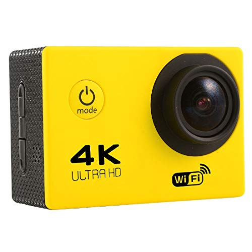 Sports CAMERA CJZC F60 2.0 inch Screen 4K 170 Degrees Wide Angle WiFi Sport Action Camera Camcorder with Waterproof Housing Case, Support 64GB Micro SD Card(Black) (Color : Yellow)
