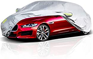 ELUTO Car Cover Sedan Cover Waterproof Windproof Dustproof All Weather Scratch Resistant Outdoor UV Protection with...