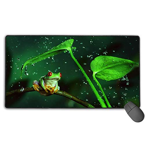 (GGlooking Mousemat Frog Mouse Pad Gaming Mat Computer Mousepad Large Non-Slip Keyboard Desk Accessories,Office & School Supplies)
