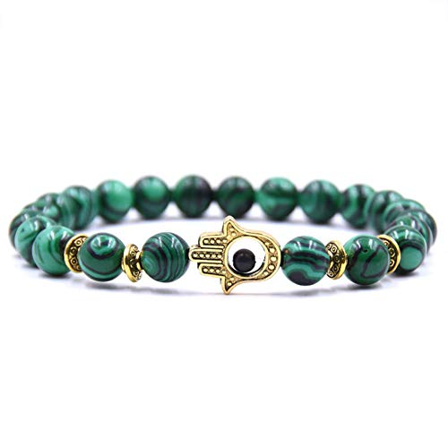 FBSL Bracelet Tiger Eye Natural Stone Eye Bracelets for Women Men Gold Fatima Hand Bracelet Femme Lava Beaded Turkish Jewelry