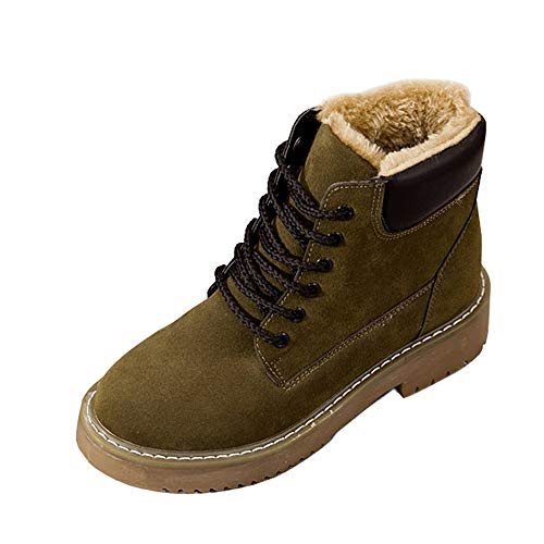 Snow Clearance Boots Anti for Skid Waterproof Non Leather Green Winter Shoes Lace Womens Trekking Hiking Slip Warm up Shoes Outdoor tFq1rFw