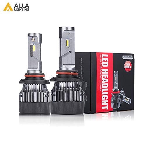 2014 Lexus Es350 Replacement - Alla Lighting S-HCR 9005 LED Headlight Bulbs Conversion Kits Replacement 10000Lms Xtreme Super Bright DRL HB3, 6K Xenon White