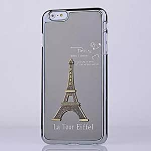 PEACH Eiffel Tower Pattern Brushed Metal Cover for iPhone 6 Plus (Assorted Colors) , Gray